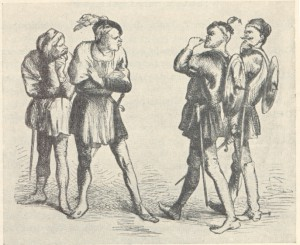 Capulet servingmen insult Montague servingmen
