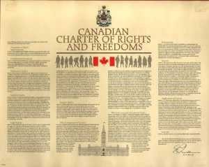 Canadian Charter of Rights and Freedoms. 1982. April 16, 2012. Online Image. Downloaded on 4/12/15
