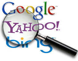 Google, Bing, and Yahoo logos in rating order. Image from: http://www.spectrumnetdesigns.com/search-engine-optimization/  Taken on: April 25th, 2015