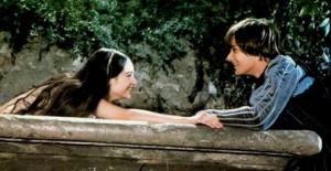 (2) 1968: Balcony Scene-Romeo and Juliet Reach Towards Each Other