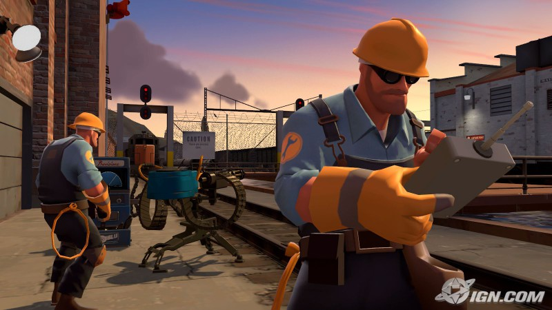 "Unknown. Unknown. ""Screenshot of Engineers in Team Fortress 2"". Online Image. http://www.mygamesfile.com/teamfortress2game/. June 1, 2015."