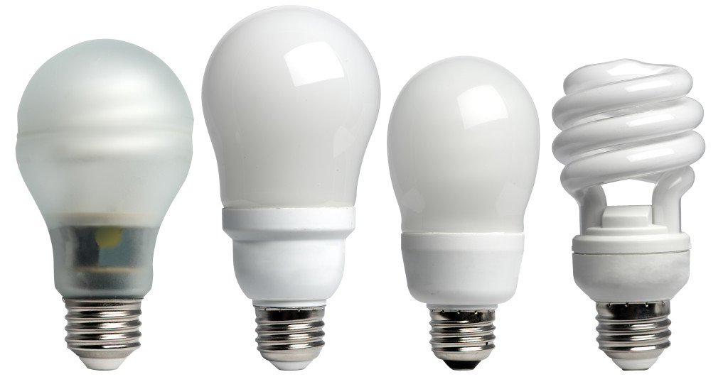 "No Author. No Date. ""Display of different types of CFL bulbs."" Online Image. June 10, 2015."