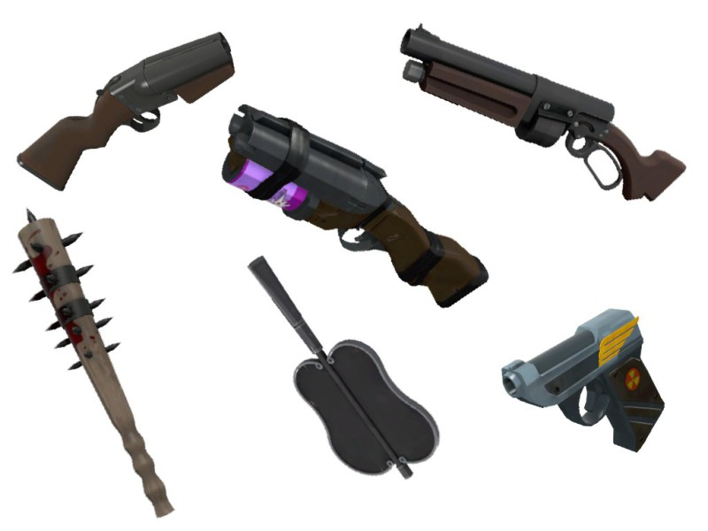 "Venom517. Jan 17, 2015. ""An array of weapons for the TF2 class, Scout"" Online Image. http://steamcommunity.com/sharedfiles/filedetails/?id=121044837. June 1, 2015"