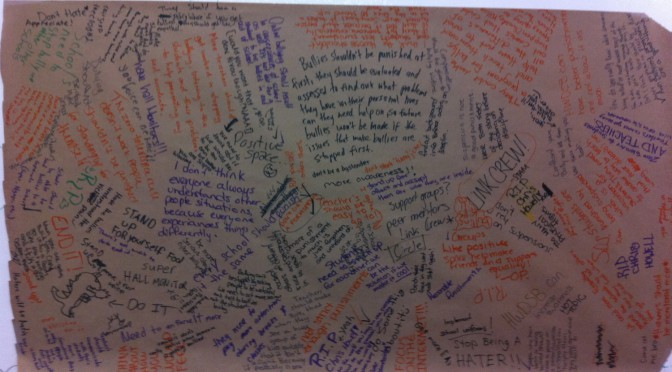Group A Brainstorming – What Can HWDSB Do About Bullying? (North)