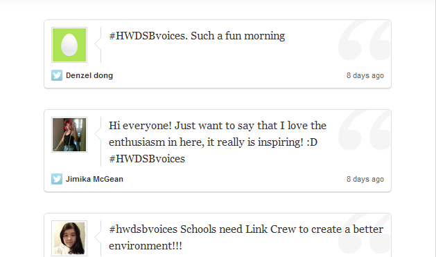 Documenting the Voices: Twitter Archive (North Cluster) #HWDSBvoices