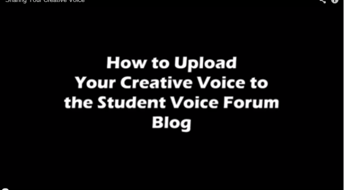 How to Submit Your Creative Voice