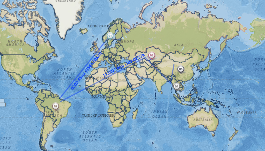The Journey of the Pencil: Mapped Using NatGeo Mapmaker ... on