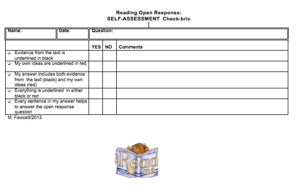 Reading Open Response CHECK-BRIC