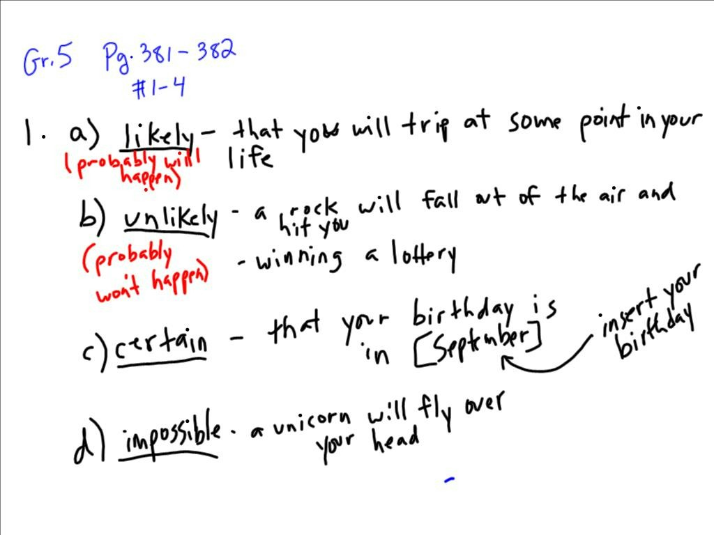 May 21, 2013 – Math Gr. 5 & 6 (Probability); Grade 6 Science ...