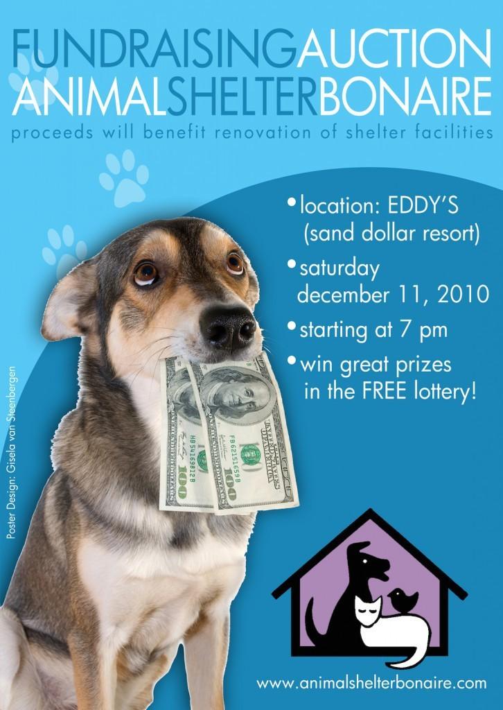 animal shelter fundraiser poster