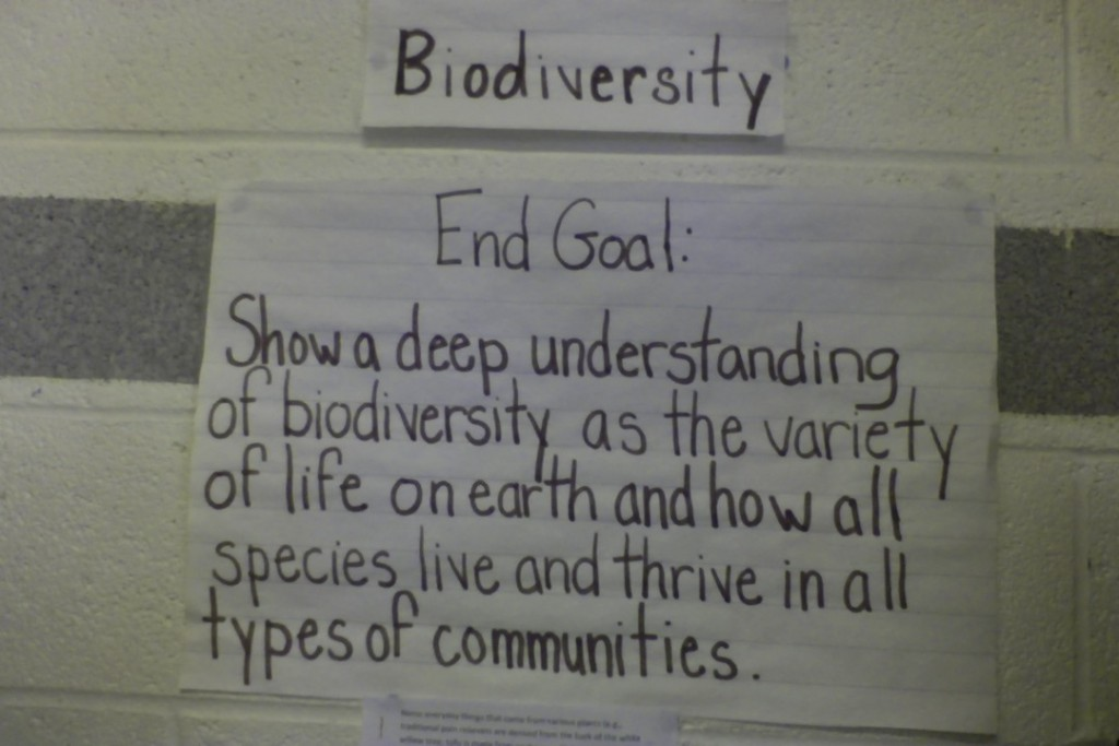 Biodiversity - Overall Learning Goal