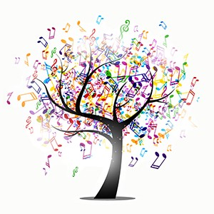 tree of music notes