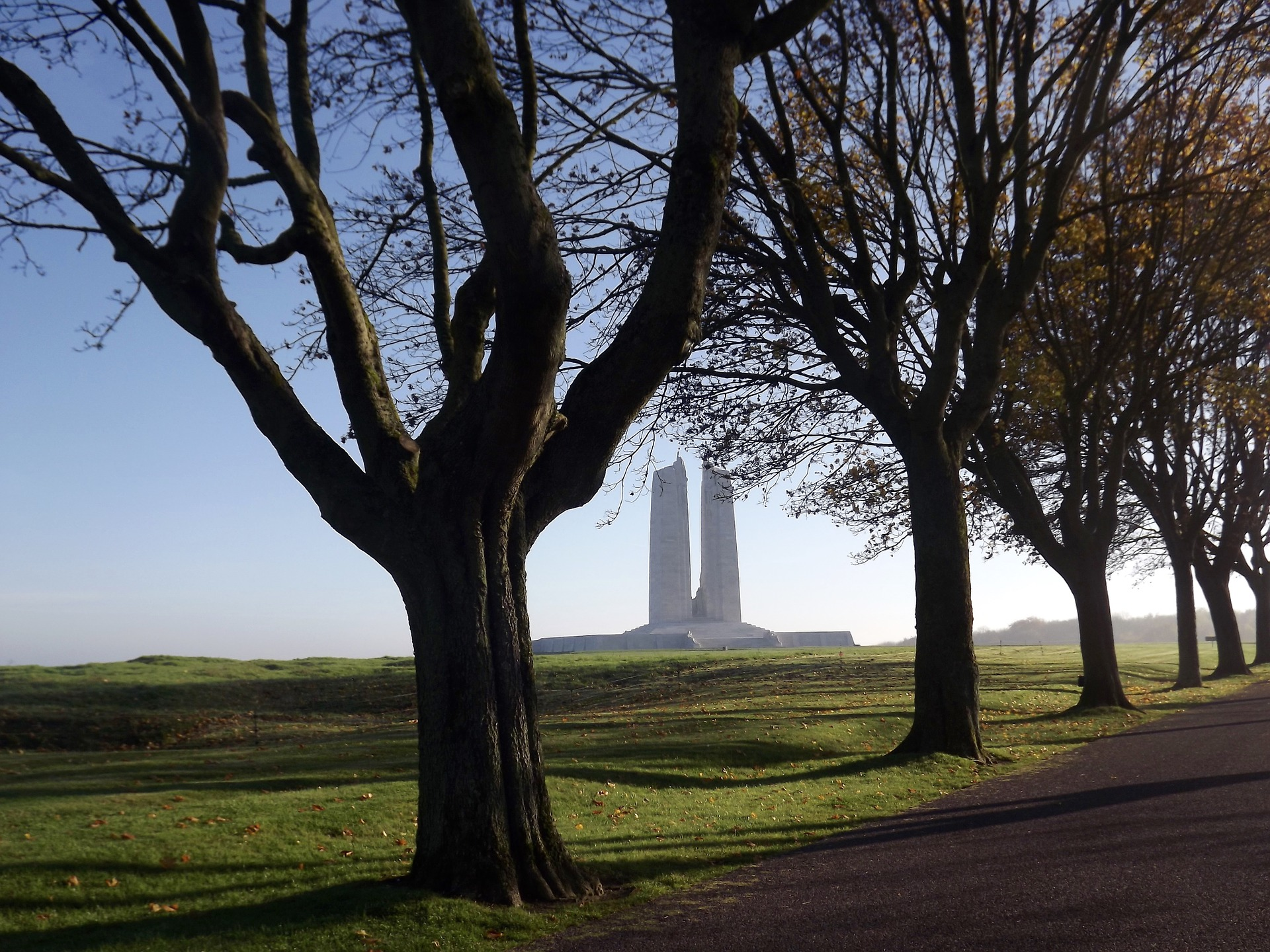 Vimy Monument in Distance