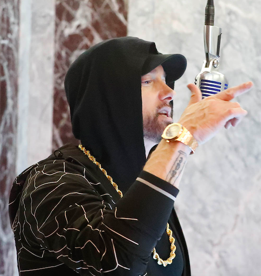 "Venom By Eminem Download Song: Eminem Performs ""Venom"" Atop The Empire State Building On"