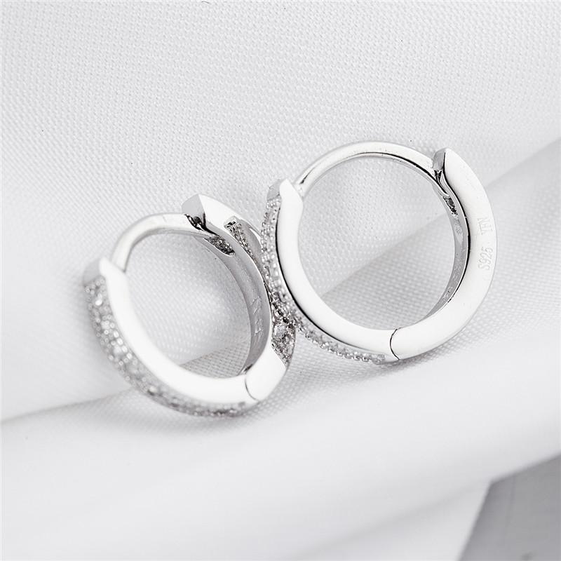 genuine sterling silver small hoop earrings hypnodess. Black Bedroom Furniture Sets. Home Design Ideas