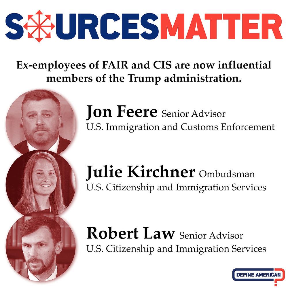 Jon Feere, Julie Kirchner, Robert Law