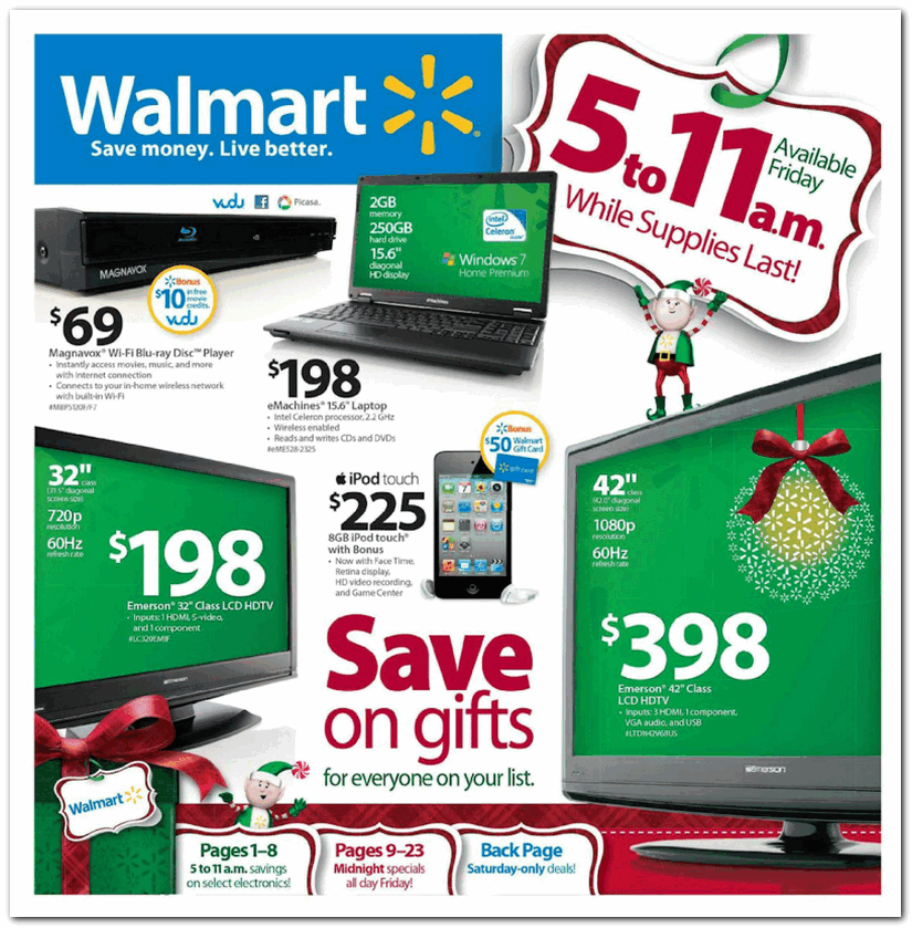 Walmart 2010 Black Friday Ad Black Friday Archive Black Friday Ads From The Past