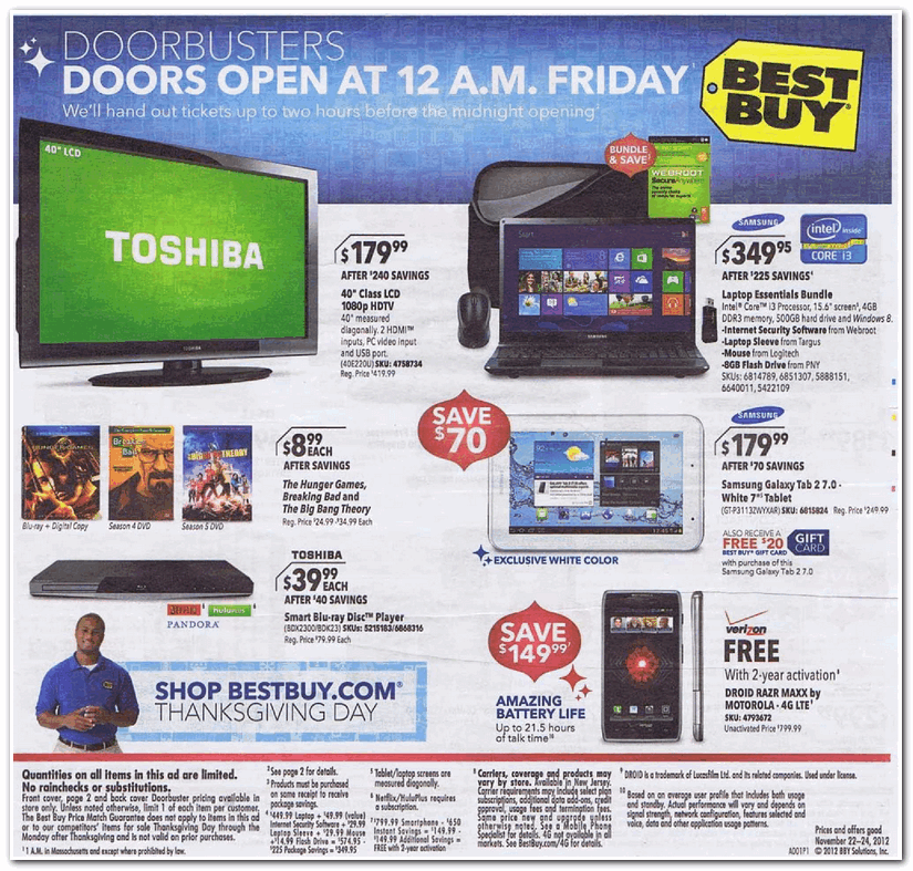 Best Buy 2012 Black Friday Ad Black Friday Archive Black Friday Ads From The Past