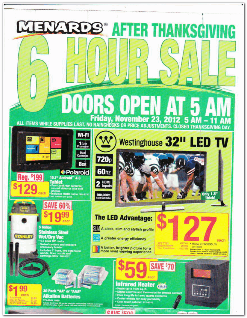 Phrase... menards black friday ad 2012 very pity