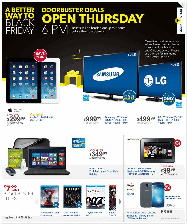 Best Buy 2013 Black Friday Ad Black Friday Archive Black Friday Ads From The Past