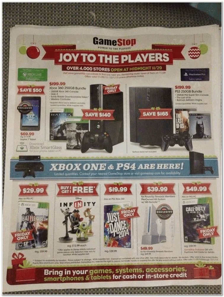 Gamestop 2013 Black Friday Ad Black Friday Archive Black Friday Ads From The Past