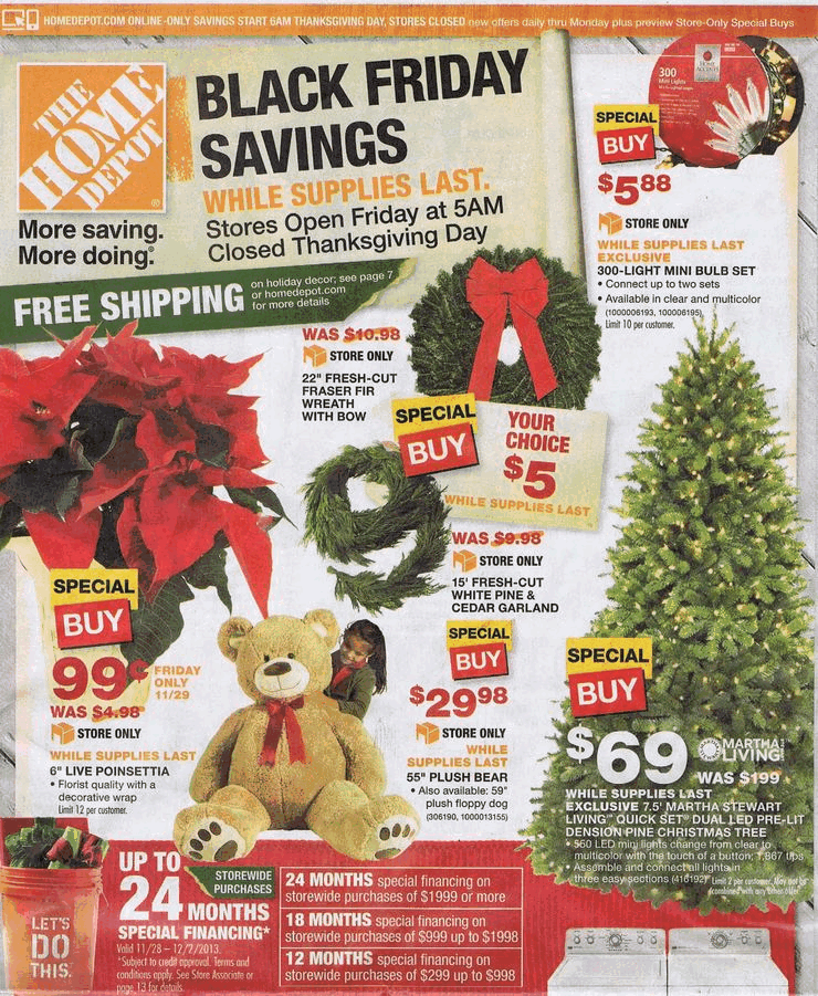 Home Depot 2013 Black Friday Ad Black Friday Archive Black Friday Ads From The Past