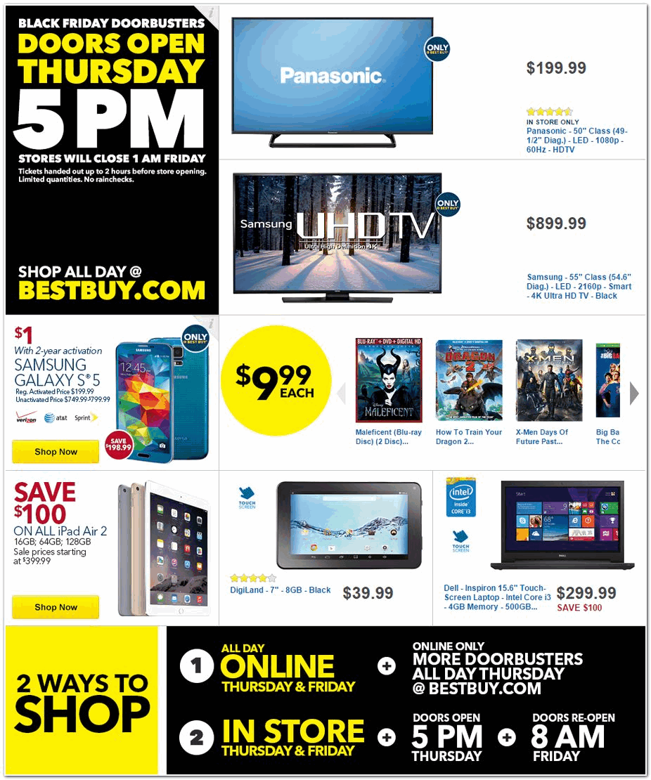 Best Buy 2014 Black Friday Ad Black Friday Archive Black Friday Ads From The Past
