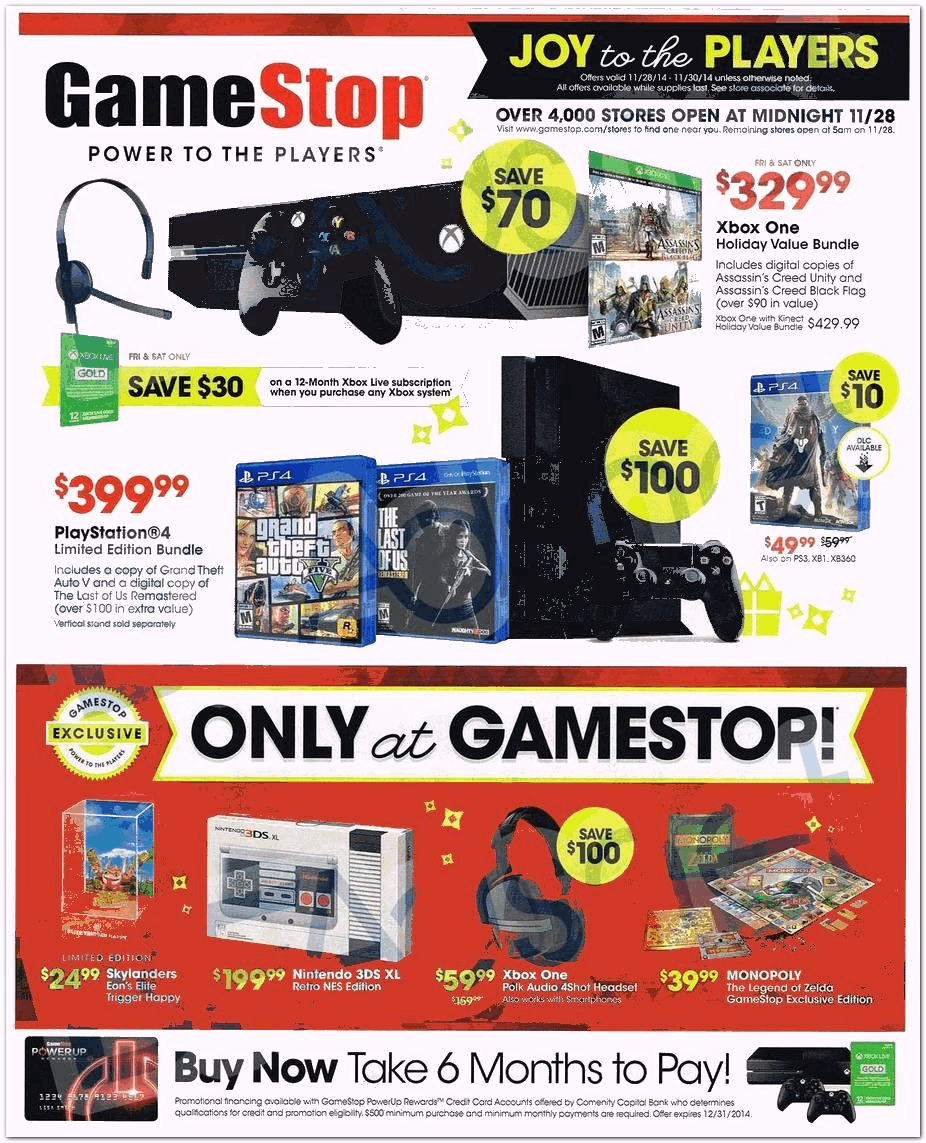 Gamestop 2014 Black Friday Ad Black Friday Archive Black Friday Ads From The Past