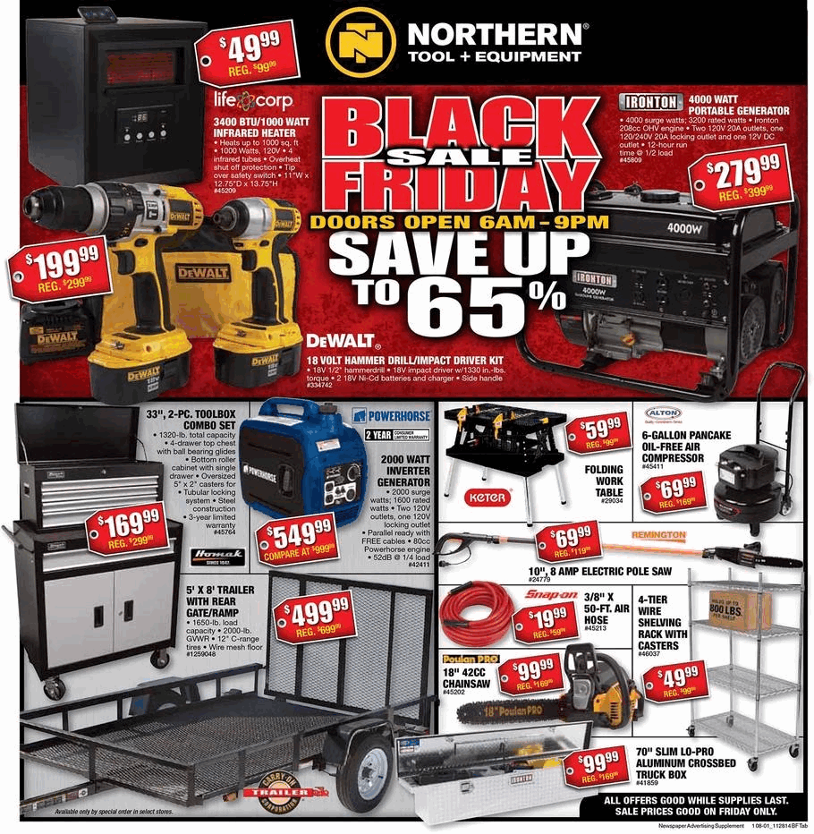 Northern Tool 2014 Black Friday Ad - Black Friday Archive