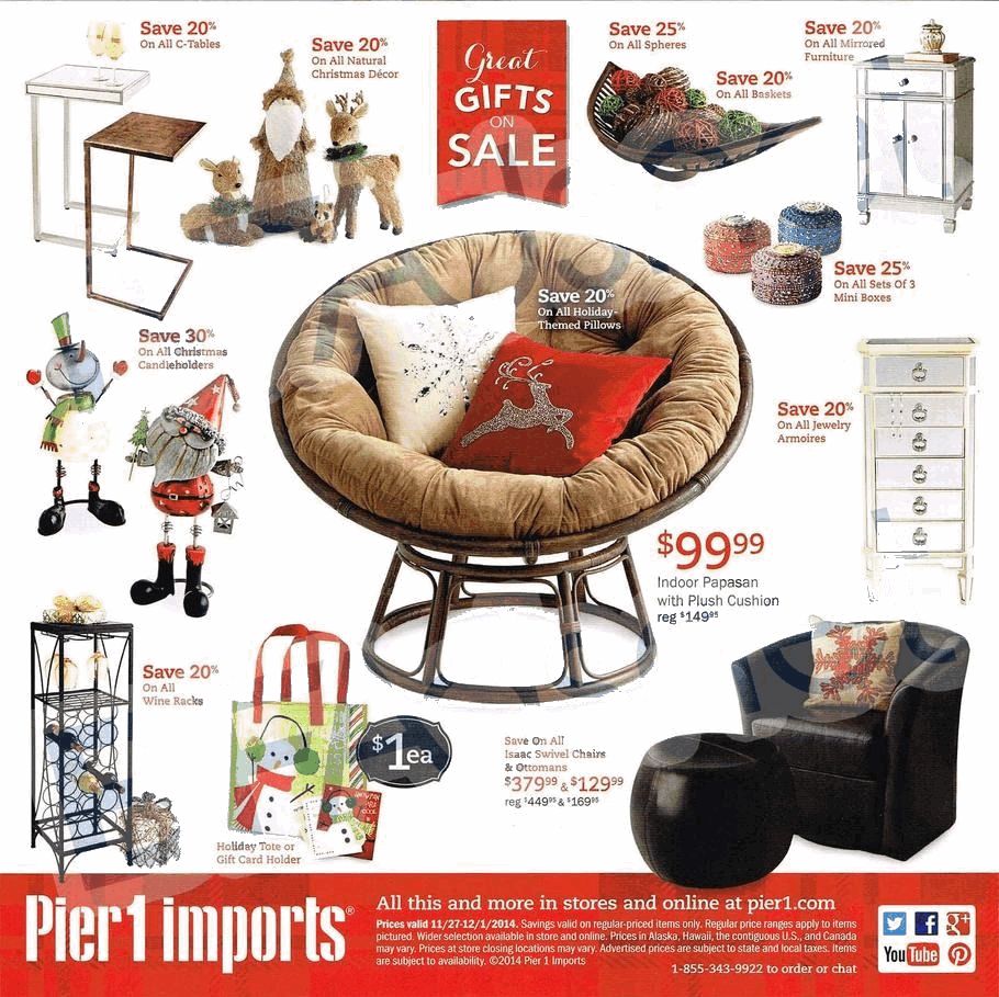 Pier 1 Imports 2014 Black Friday Ad Black Friday Archive Black Friday Ads From The Past