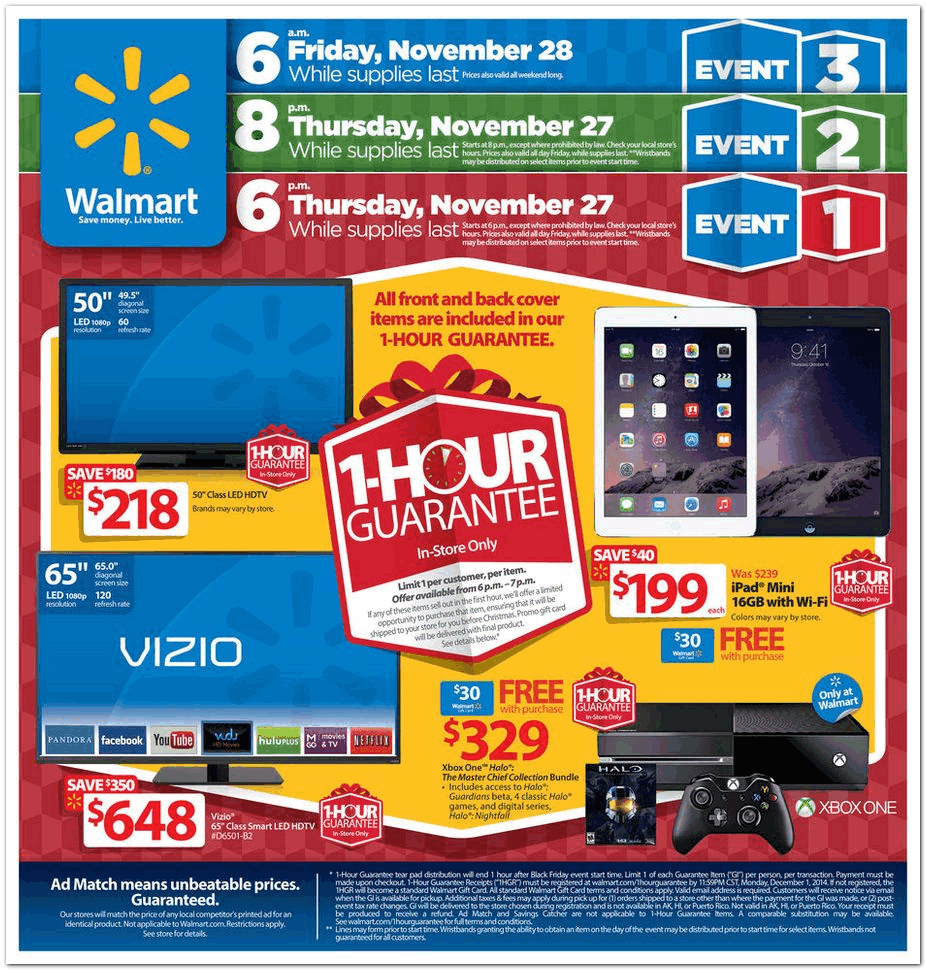 Walmart 2014 Black Friday Ad Black Friday Archive Black Friday Ads From The Past