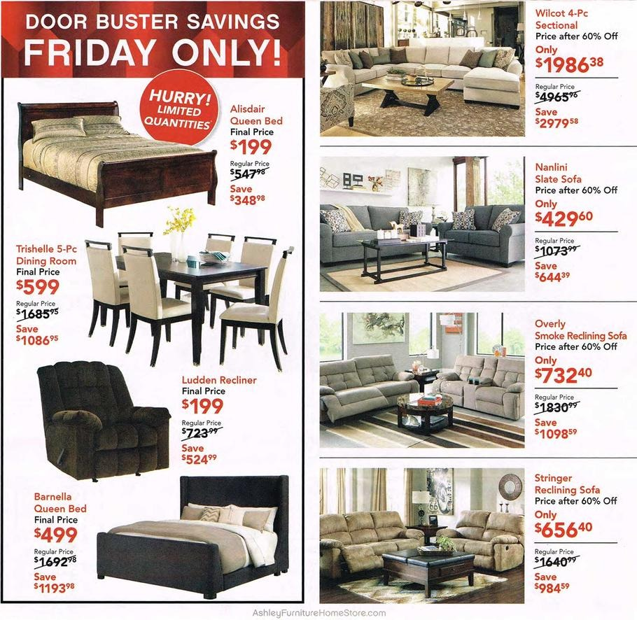 Furniture Store Ads: Ashley Furniture 2015 Black Friday Ad