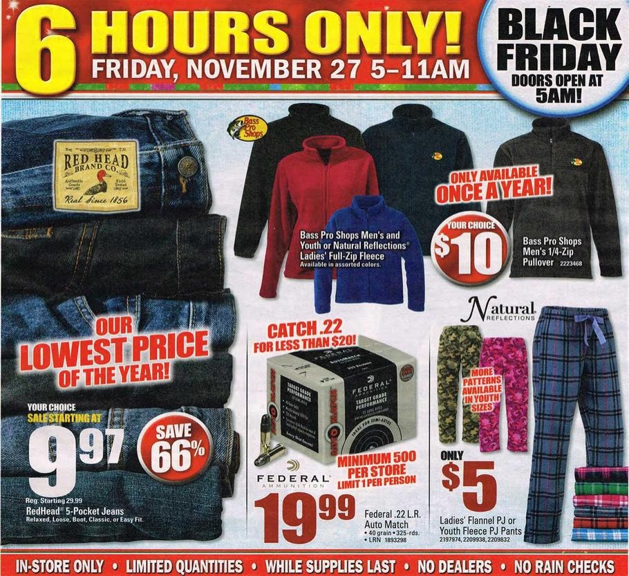 Bass Pro Shops 2015 Black Friday Ad Black Friday Archive Black Friday Ads From The Past