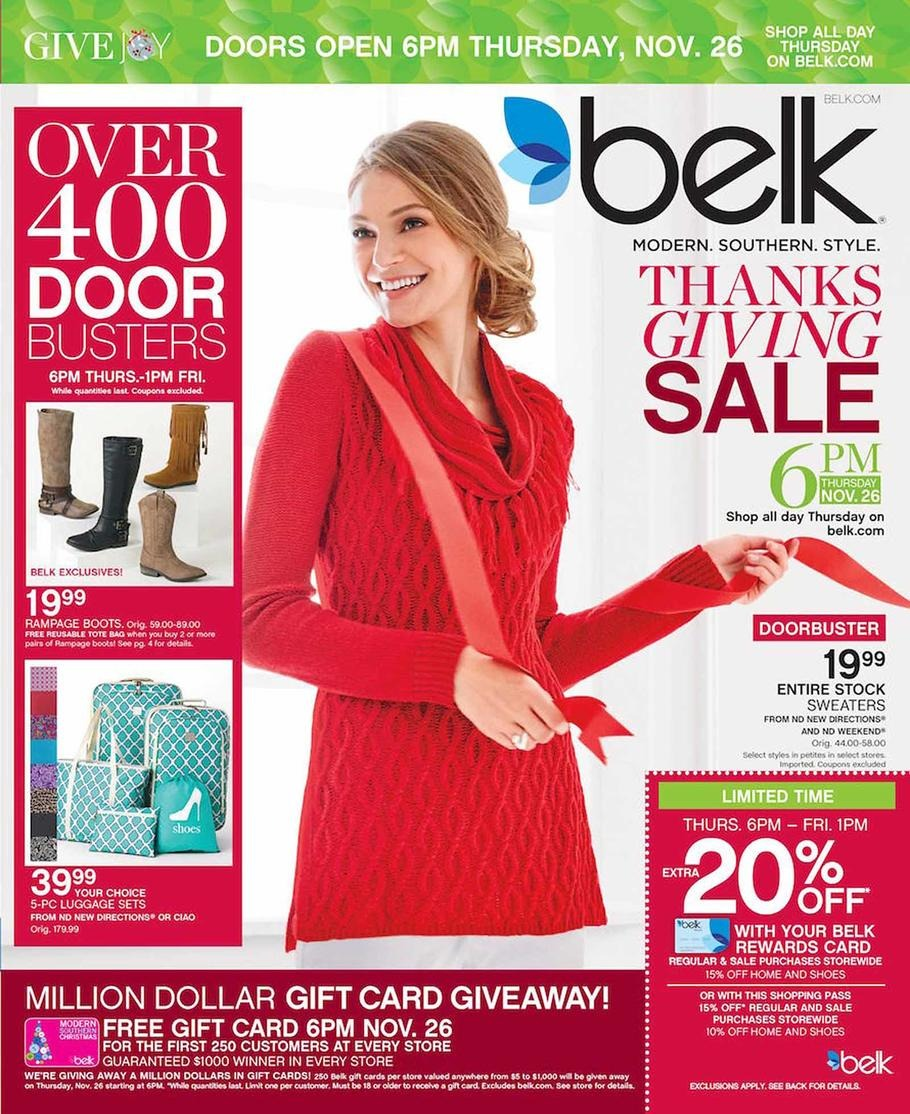 Belk 2015 Black Friday Ad Black Friday Archive Black Friday Ads From The Past