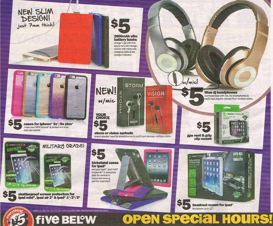 Five Below 2015 Black Friday Ad Black Friday Archive Black Friday Ads From The Past