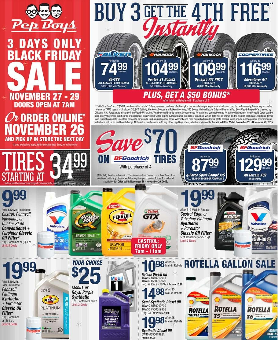 Pep Boys Auto 2015 Black Friday Ad Black Friday Archive Black