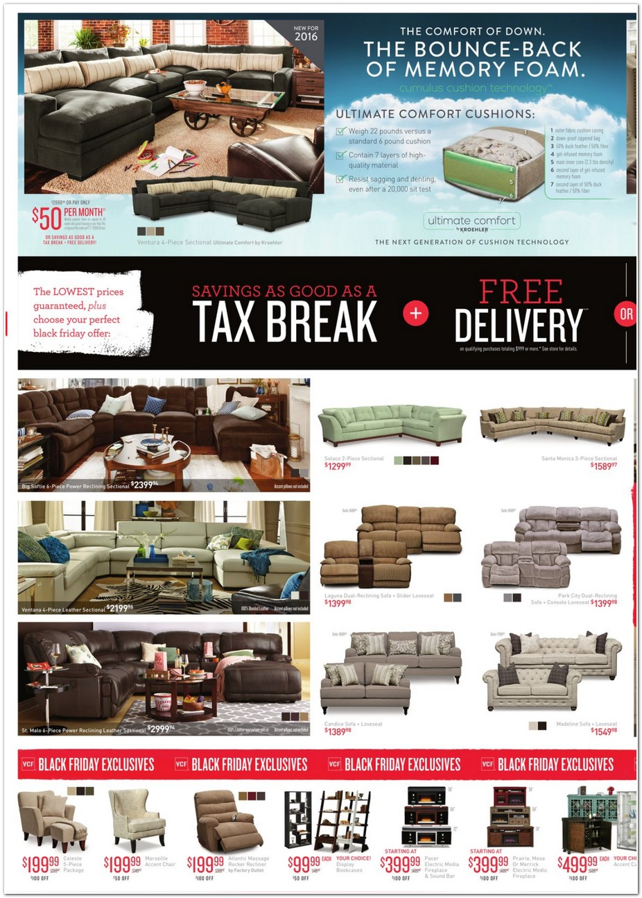 Value City Furniture 2015 Black Friday Ad Black Friday Archive