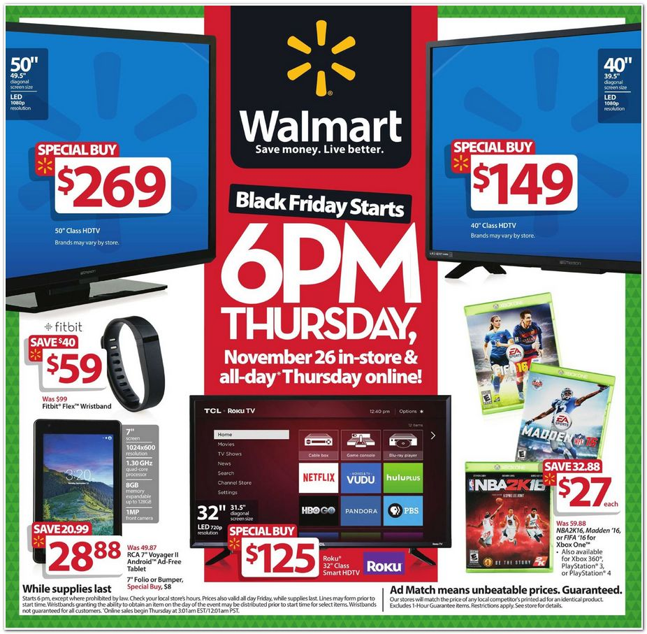Walmart 2015 Black Friday Ad Black Friday Archive Black Friday Ads From The Past