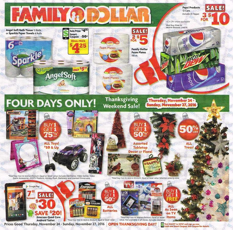 Family Dollar Christmas Trees.Family Dollar 2016 Black Friday Ad Black Friday Archive