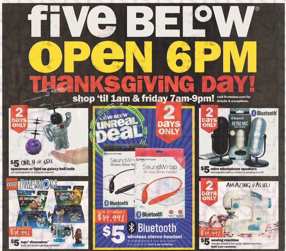 Five Below 2016 Black Friday Ad Black Friday Archive Black Friday Ads From The Past