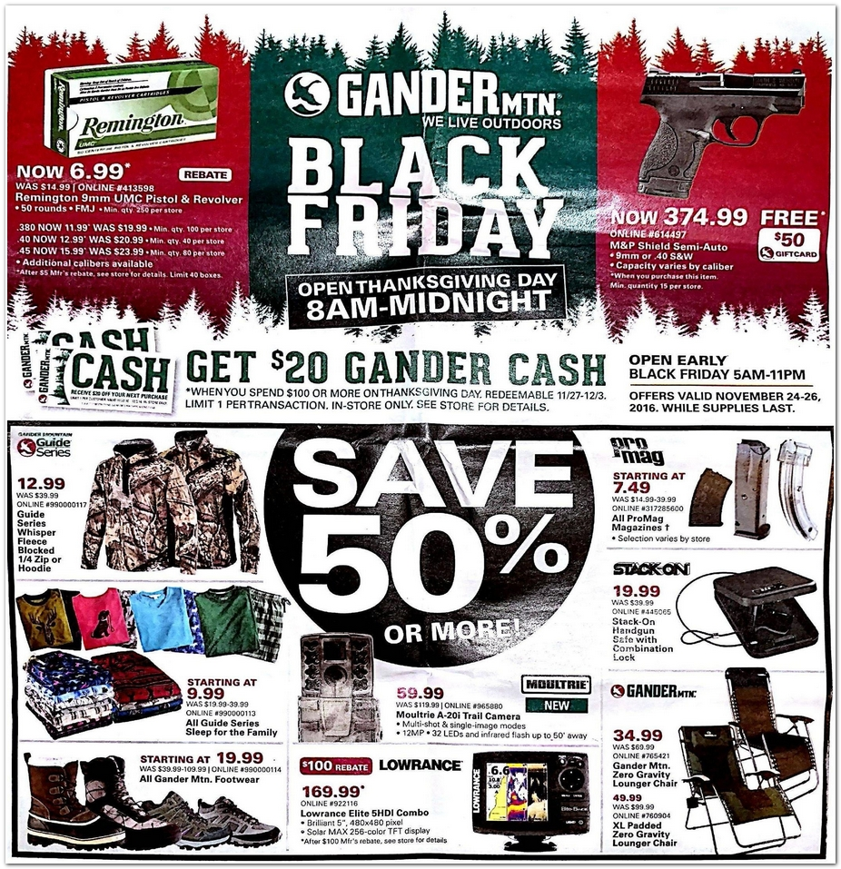 Gander Mountain 2016 Black Friday Ad Black Friday Archive Black