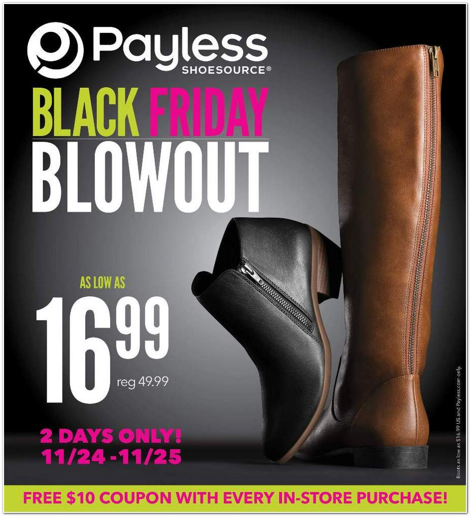 Payless Shoes 2016 Black Friday Ad