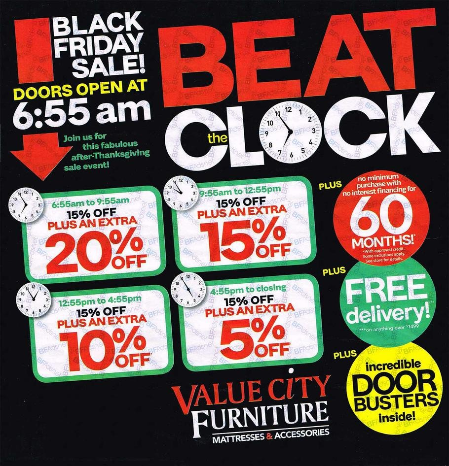 Ashley Furniture Black Friday Ads 2016: Value City Furniture 2016 Black Friday Ad