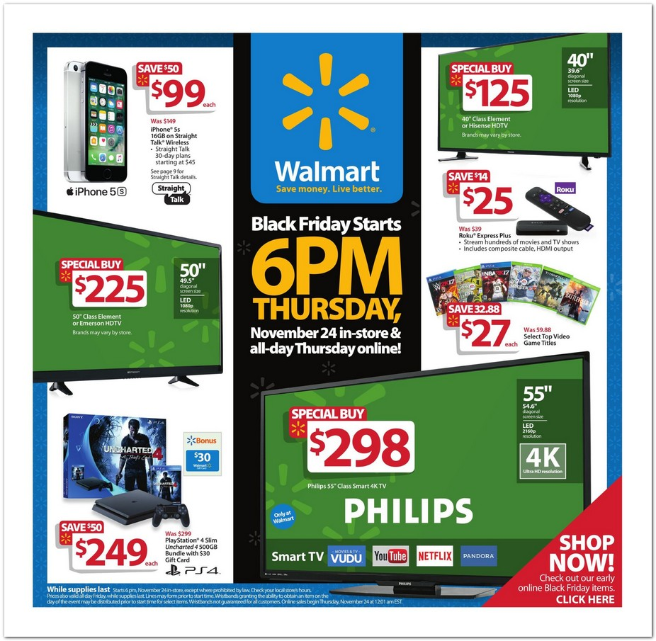 Walmart 2016 Black Friday Ad Black Friday Archive Black Friday Ads From The Past