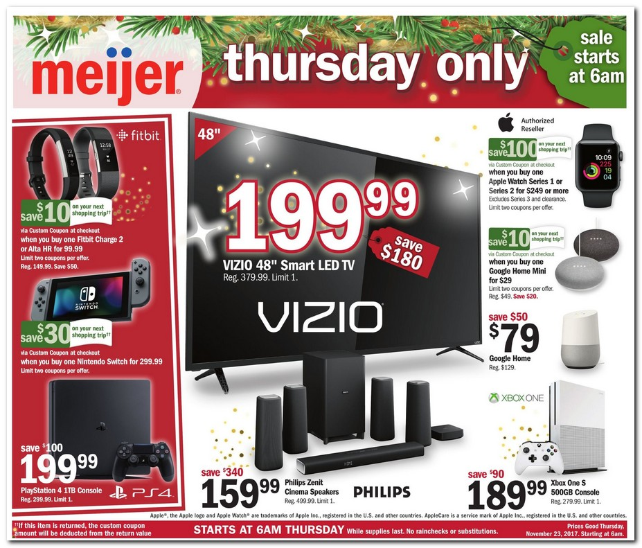Meijer 2017 Black Friday Ad Black Friday Archive Black Friday Ads From The Past