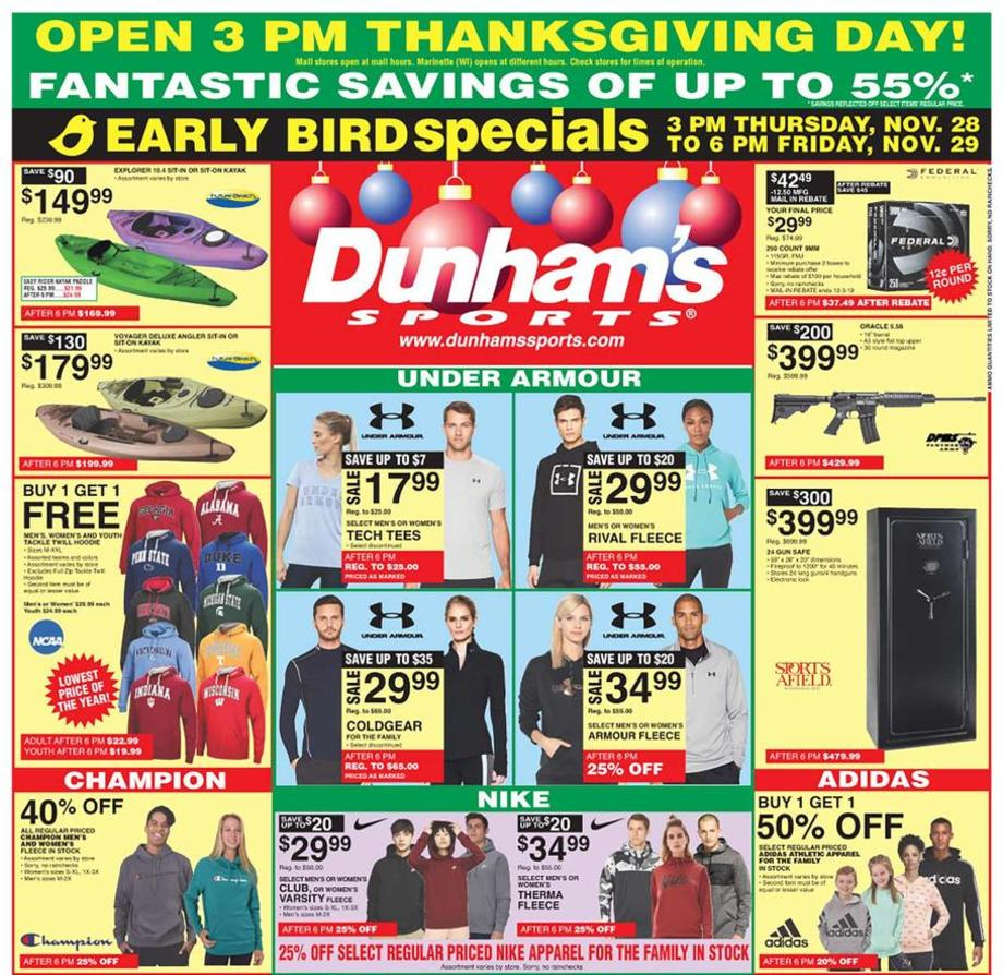 Dunham S Sports 2019 Black Friday Ad Black Friday Archive Black Friday Ads From The Past
