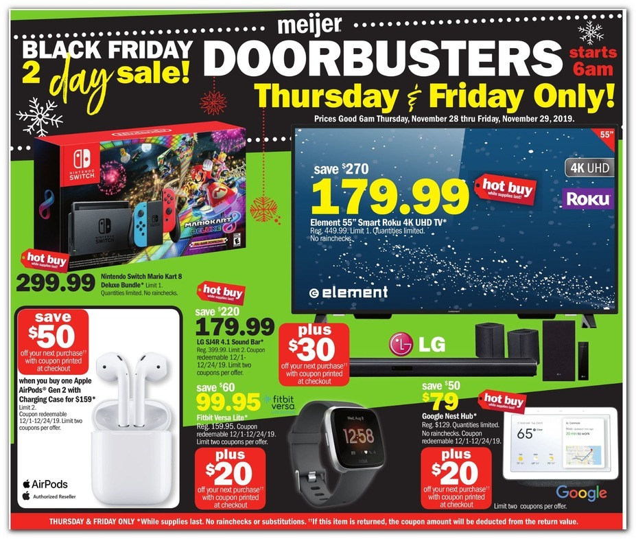 Meijer 2019 Black Friday Ad Black Friday Archive Black Friday Ads From The Past