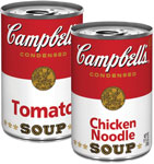 Campbell's Condensed Tomato or Chicken Noodle Soup