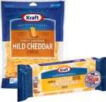 Kraft Shredded or Chunk Cheese