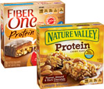 Nature Valley Nut Bars or Fiber One Bars